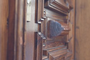 Retro wooden door 2