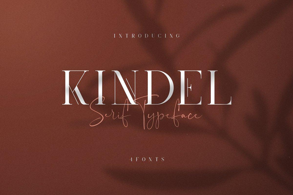 Kindel - Serif Typeface   4 styles