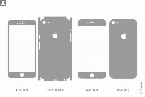Iphone 6 Plus 2016 Skin Template Pre Designed Illustrator Graphics Creative Market