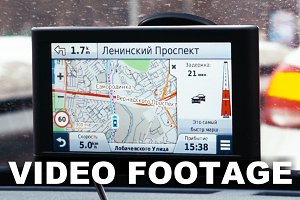 Driving Moscow with GPS navigation