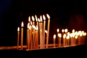 Candles in the Holy Sepulchre