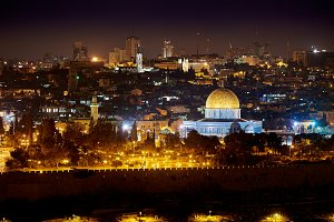 Jerusalem Lights at Night~