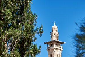 Minaret on the Temple Mount
