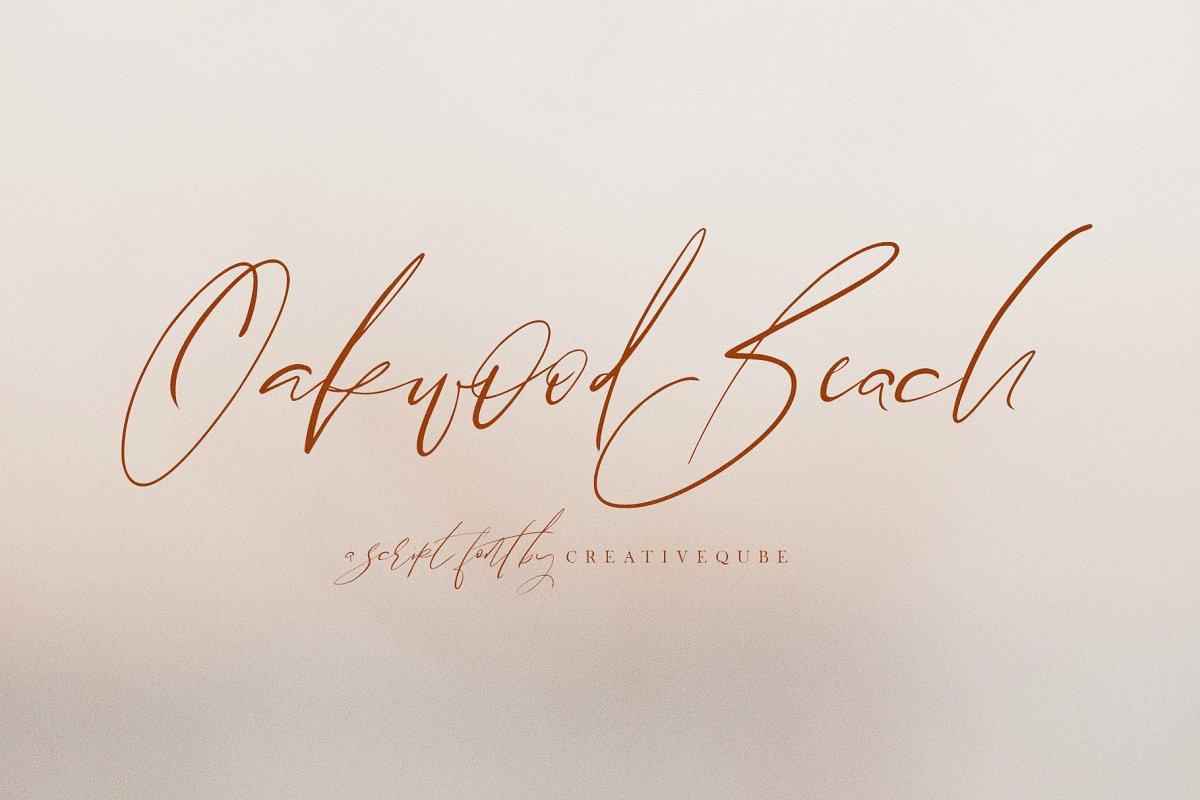 Oakwood Beach Script Font