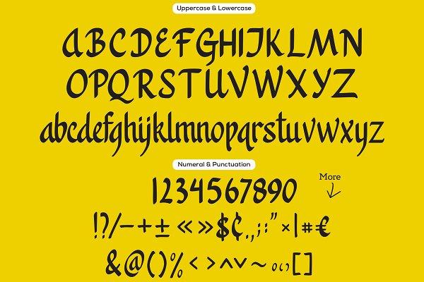 Best Khanaya - Serif Script Font Vector