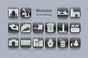 Morocco landmark icons (16x)