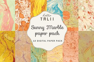 Sunny Marble Paper Pack