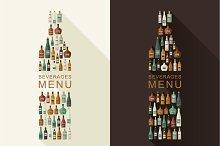 Alcoholic beverages menu