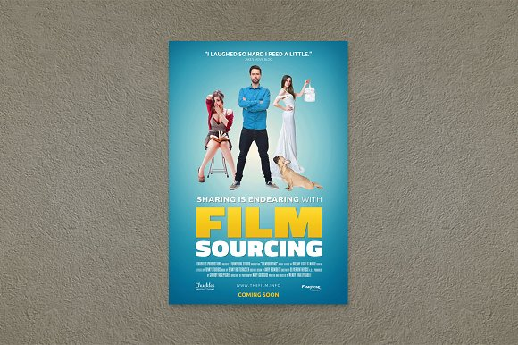 comedy movie poster template flyer templates creative market