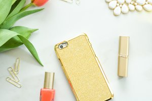 Gold Glamour Tulip Stock Image
