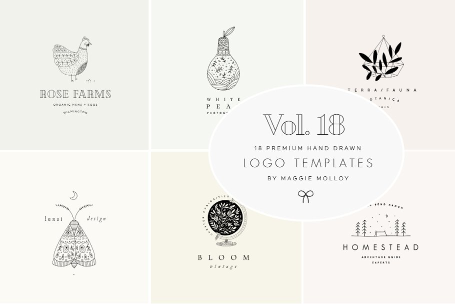Feminine Premade Logo Bundle Vol. 18