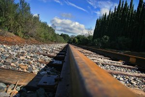 Railroad Low Angle (Photo)