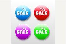 3D Vector design elements sale tags