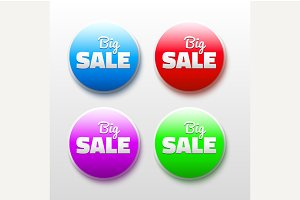 3D Vector design elements sale tags