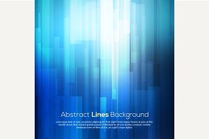 Blue abstract lines background
