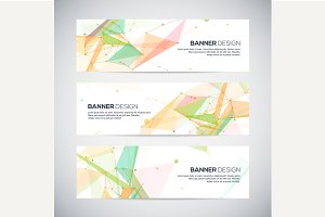 Vector geometric banners set