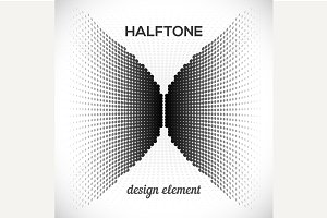 Black Halftone Design Element