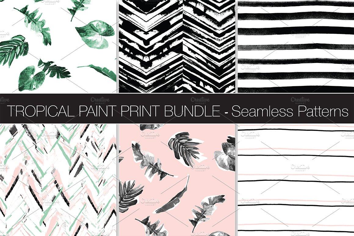 Tropical Paint Pattern Bundle Patterns Creative Market