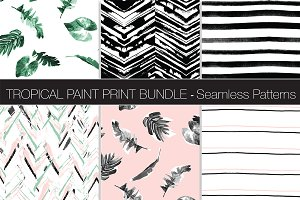 Tropical Paint Pattern Bundle