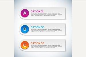 Modern 3d infographics options.