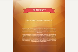 Vector certificate background.