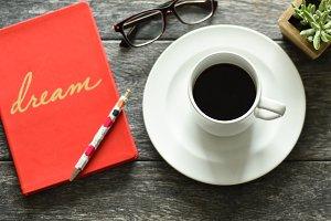 Red Coffee Break | Stock Image
