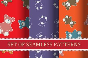 "Seamless pattern ""Teddy bears"""