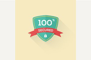 Vector security shield icon badge