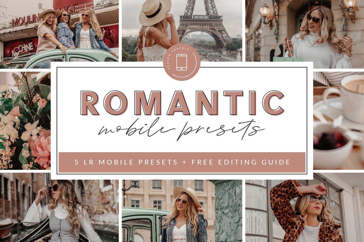 Romantic Lightroom MOBILE Presets