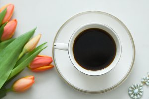 Coffee and Flowers | Stock Image