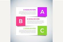 3D Modern infographics Design Layout