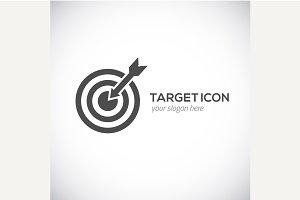 Target icon. Target logo concept.