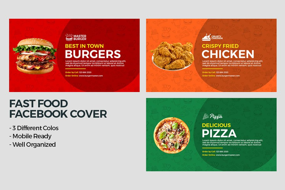 Fast Food Facebook Cover