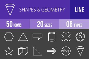 50 Shapes & Geometry Line Inverted
