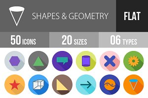 50 Shapes & Geometry Flat Shadowed