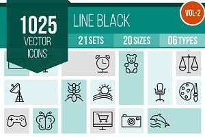 1025 Line Icons (V2)