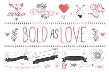Bold as Love Valentine Vector Art