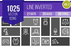 1025 Line Inverted Icons (V2)