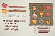 hand drawn icons for game design