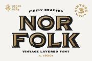 Norfolk : Layered Vintage Font