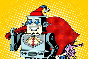 Robot Santa Claus Christmas gifts