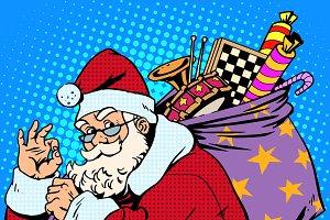 Santa Claus with gift bag okay