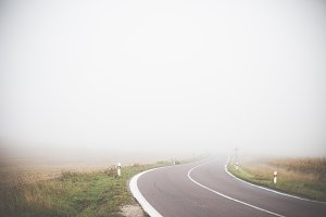 Lonely Foggy Road
