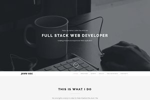 Clean – One Page Personal Portfolio