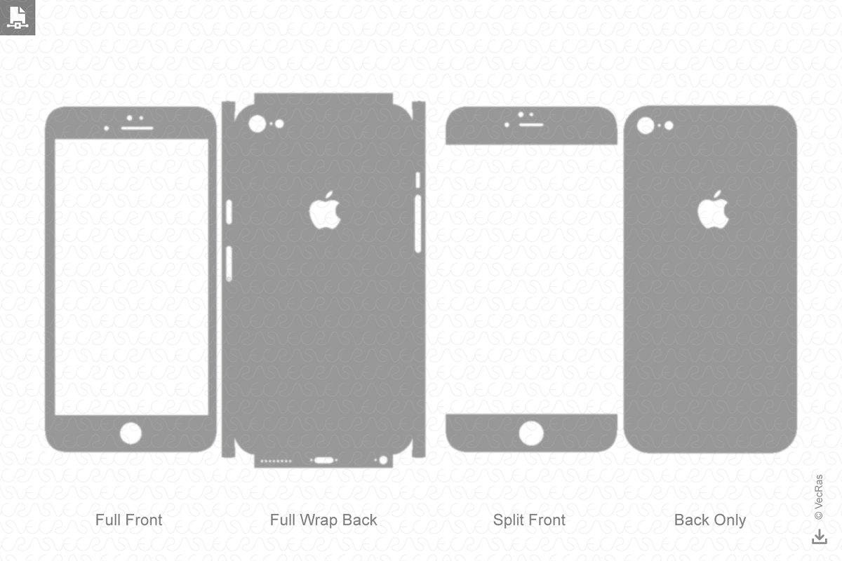 timeless design d4573 fbd28 Apple iPhone 6S Vinyl Skin Cut File