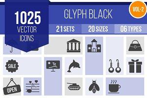 1025 Glyph Icons (V2)