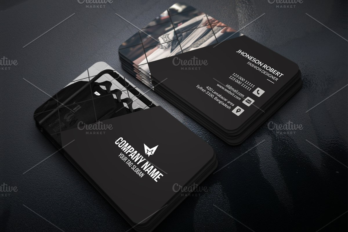 Fashion Business Card Creative Business Card Templates Creative Market