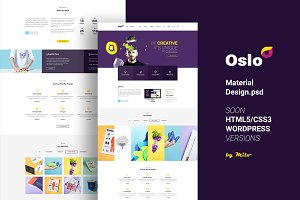 Oslo - Material Design PSD Website