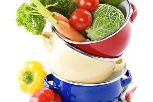 Ratatouille or soup vegetables