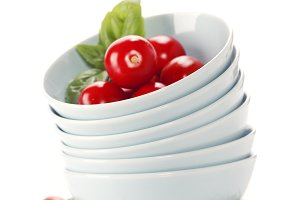 Fresh vegetables in bowls